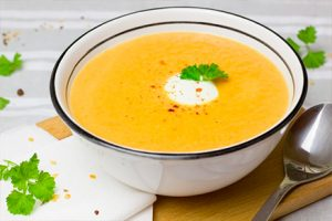 Delicious ginger soup and carrots- Anaheim receipt -Keephumanity research