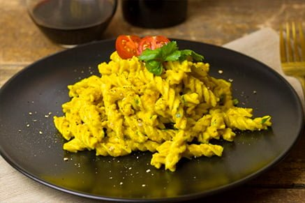 Pasta with turmeric and onion - Union city- Keephumanity research