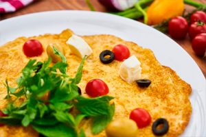 Garlic omelet with cheese- Riverside breakfast- Keephumanity research