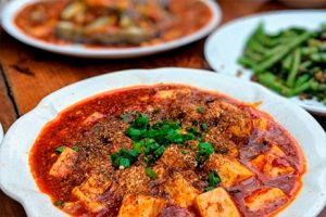 Goulash with soy and mushrooms-Novato kitchen-Keephumanity research