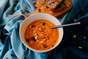 Turmeric soup with carrot- San Rafel meal-Keepumanity research