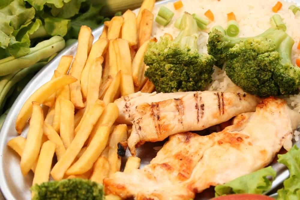 grilled chicken with broccoli